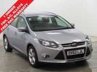 USED 2012 62 FORD FOCUS 1.6 ZETEC 5d AUTO 124 BHP ***1 Owner, Full Service History, Low Miles, Auto, Air Con, Alloys, DAB, Bluetooth, Parking Sensors, Free RAC Warranty***