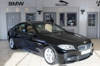 USED 2015 15 BMW 5 SERIES 3.0 535D M SPORT 4d AUTO 309 BHP FULL LEATHER SEATS + BMW SERVICE HISTORY + SAT NAV + BLUETOOTH + DAB RADIO + XENON HEADLIGHTS + HEATED FRONT SEATS + 18 INCH ALLOYS + PARKING SENSORS