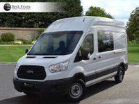 USED 2015 15 FORD TRANSIT 2.2 350 L3H2 DCB P/V 1d 124 BHP COMBI VAN DOUBLE CAB