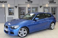 USED 2013 63 BMW 1 SERIES 2.0 120D M SPORT 3d 181 BHP FULL SERVICE HISTORY + BLUETOOTH + £30 ROAD TAX + DAB RADIO + 18 INCH ALLOYS