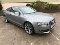 USED 2010 AUDI A5 2.0 TDI SPORT 2d 168 BHP LEATHER, ALLOYS, HEATED SEATS, REALLY WELL KEPT, GOOD TYRES