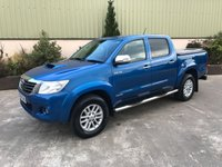 USED 2015 64 TOYOTA HI-LUX 3.0 INVINCIBLE 4X4 D-4D DCB 1d 169 BHP LOW MILES, REVERSE CAMERA, ALLOYS, BLUETOOTH