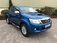 USED 2014 64 TOYOTA HI-LUX 3.0 INVINCIBLE 4X4 D-4D DCB 1d AUTO 169 BHP AUTO, LEATHER, REVERSE CAMERA, LOW MILES, SAT NAV VERY CLEAN