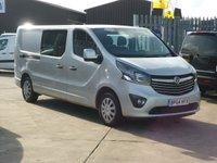2015 VAUXHALL VIVARO 1.6CDTi 2900 L2 H1  Double Cab SPORTIVE  120 BHP £10995.00