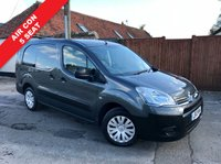USED 2013 13 CITROEN BERLINGO 1.6 725 X L2 HDI 1d 89 BHP 5 Seats, Air Con, One Owner, Grey Metallic, Finance Arranged.