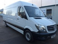 2014 MERCEDES-BENZ SPRINTER 313 CDI LWB HI ROOF, 130 BHP [EURO 5], FULL SERVICE HISTORY, 1 COMPANY OWNER £SOLD