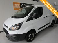 USED 2014 63 FORD TRANSIT CUSTOM 2.2 270 LR P/V 1d 99 BHP LOW TAX AND INSURANCE