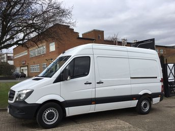 2016 MERCEDES-BENZ SPRINTER 2.1 313CDI MWB HIGH ROOF 129 BHP. NEW SHAPE EURO 6. 61K. FSH £13990.00