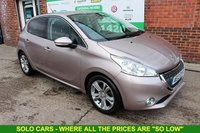 USED 2013 13 PEUGEOT 208 1.4 ALLURE HDI 5d 68 BHP +SAT NAV +Bluetooth +FREE Tax.
