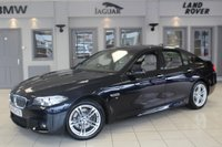 USED 2014 63 BMW 5 SERIES 3.0 530D M SPORT 4d AUTO 255 BHP FULL OYSTER WHITE LEATHER SEATS + SAT NAV + BLUETOOTH + 18 INCH ALLOYS + HEATED FRONT SEATS + DAB RADIO + PARKING SENSORS + CRUISE CONTROL