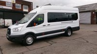 USED 2014 64 FORD TRANSIT 2.2 460 TREND H/R BUS 18 STR 1d 124 BHP 1 OWNER F/S/H VERY LOW MILES   FREE 12 MONTHS WARRANTY COVER ///