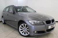 USED 2011 61 BMW 3 SERIES 2.0 318D SE TOURING 5DR 141 BHP SERVICE HISTORY + BLUETOOTH + PARKING SENSOR + MULTI FUNCTION WHEEL + CLIMATE CONTROL + 17 INCH ALLOY WHEELS