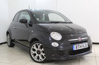 USED 2014 14 FIAT 500 0.9 TWINAIR S 3DR 85 BHP FULL SERVICE HISTORY + HALF LEATHER SEATS + MULTI FUNCTION WHEEL + CLIMATE CONTROL + AUXILIARY PORT + RADIO/CD + 15 INCH ALLOY WHEELS