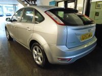 USED 2008 57 FORD FOCUS 1.6 ZETEC 5d 100 BHP Three owners from new, full service history- 8 stamps, September Mot. Finished in Moondust Silver.