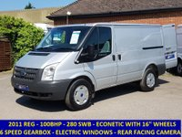 2011 FORD TRANSIT 280S ECONETIC 100BHP WITH 6 SPEED GEARBOX £SOLD