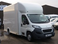 2018 PEUGEOT BOXER LUTON LOW LOADER BOX VAN 335 WITH CD PLAYER DAB RADIO AND MUCH MORE  £20995.00