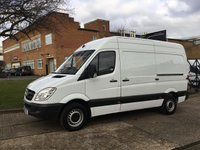 USED 2013 63 MERCEDES-BENZ SPRINTER 2.1 313CDI MWB HIGH ROOF 129BHP. 1 OWNER. FSH. LOW FINANCE RATE 10 SERVICE HISTORY STAMPS. LOW RATE FINANCE. PX