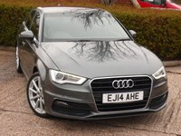 USED 2014 14 AUDI A3 1.4 TFSI S LINE 5d 139 BHP £30 A YEAR ROAD TAX!! NEED FINANCE ?  POOR CREDIT WE CAN HELP! JUST ASK ! 50+ MPG IN DAY TO DAY DRIVING!!