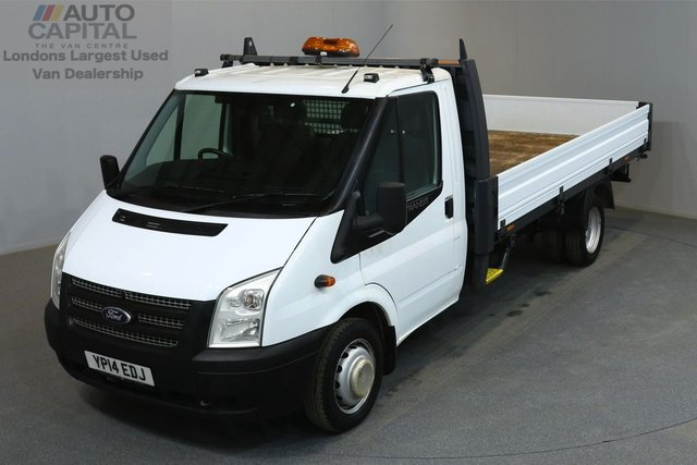 2014 14 FORD TRANSIT 2.2 350 124 BHP L4 EXTRA LWB DROPSIDE LORRY  ONE OWNER FROM NEW, SERVICE HISTORY