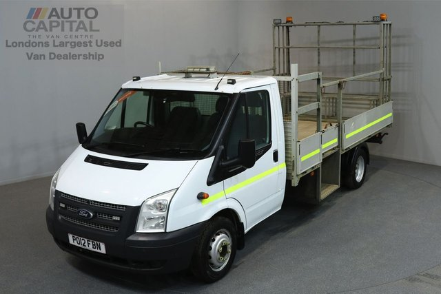 2012 12 FORD TRANSIT 2.4 350L L3 M/R RWD 125 2d 123 BHP LWB REVERSE CAMERA DROPSIDE LORRY  ONE OWNER FROM NEW