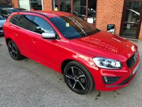 USED 2015 15 VOLVO XC60 2.0 D4 R-DESIGN 5d AUTO 178 BHP Full service history, R-Design steering wheel,   R-Design contrasting leather upholstery,   Heated front seats,   Bluetooth,   DAB Radio