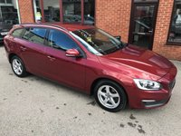 USED 2014 64 VOLVO V60 2.0 D4 BUSINESS EDITION 5d AUTO 178 BHP Full service history, Only £20 a year road tax,   Cloth upholstery,    Bluetooth,    Sat Nav,    Wi-Fi,    DAB radio,    Rear parking sensors