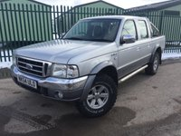 USED 2004 54 FORD RANGER 2.5 THUNDER D/C 1d 107 BHP LEATHER ALLOYS TOWBAR MOT 11/18 NO VAT NO VAT. 4WD. SILVER MET WITH FULL GREY LEATHER TRIM. SIDE STEPS. 15 INCH ALLOYS. COLOUR CODED TRIMS. AIR CON. R/CD PLAYER. PARROT BLUETOOTH. LOCK SAFE IN REAR. TOWBAR. DAMAGE O/S/R PANEL. MOT 11/18. AGE/MILEAGE RELATED SALE. TEL 01937 849492