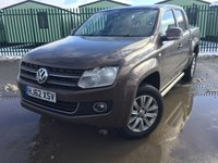 USED 2012 62 VOLKSWAGEN AMAROK 2.0 DC TDI HIGHLINE 4MOTION 4d 161 BHP SAT NAV LOAD COVER LEATHER FSH NO FINANCE REPAYMENTS FOR 2 MONTHS STC. COMMERCIAL (£12900+2580VAT). 4WD. SATELLITE NAVIGATION. LOAD COVER. STUNNING BROWN MET WITH FULL BLACK LEATHER TRIM. HEATED SEATS. CRUISE CONTROL. AIR CON. SIDE BARS. 18 INCH ALLOYS. COLOUR CODED TRIMS. PRIVACY GLASS. PARKING SENSORS. CARGO LINING. BLUETOOTH PREP. PAS. R/CD PLAYER. 6 SPEED MANUAL. MFSW. MOT 03/19. ONE PREV OWNER. FULL SERVICE HISTORY. FCA FINANCE APPROVED DEALER. TEL 01937 849492