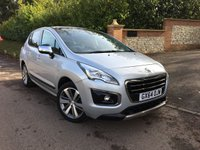 2015 PEUGEOT 3008 1.6 HDI ALLURE 5d 115 BHP PLEASE CALL TO VIEW £10000.00