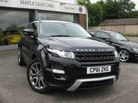 2011 LAND ROVER RANGE ROVER EVOQUE 2.2 SD4 DYNAMIC LUX 3d AUTO 190 BHP £SOLD