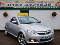 USED 2006 06 VAUXHALL TIGRA 1.4 EXCLUSIV 16V 2d 90 BHP CONVERTIBLE, SERVICE HISTORY INCLUDED, FULL LEATHER