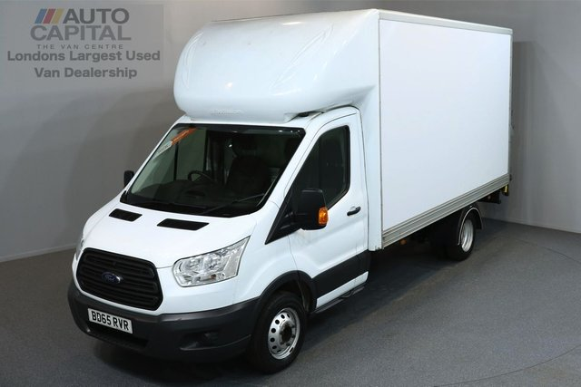 2015 65 FORD TRANSIT 2.2 350 C/C DRW 3d 124 BHP LWB REAR TAIL LIFT FITTED LUTON VAN  ONE OWNER FROM NEW
