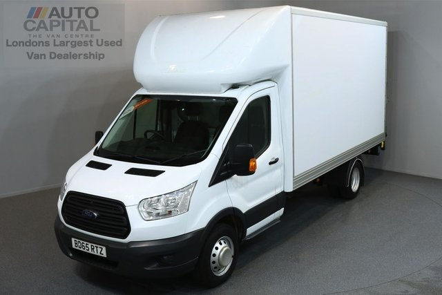 2015 65 FORD TRANSIT 2.2 350 C/C DRW 3d 124 BHP LWB REAR TAIL LIFT FITTED LUTON VAN