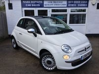 USED 2014 14 FIAT 500 1.2 LOUNGE 3d 69 BHP 28K FSH ONE LADY OWNER ULTRA LOW INSURANCE & TAX EXCELLENT CONDITION
