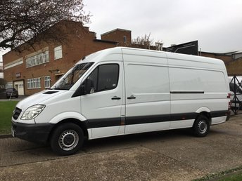 2013 MERCEDES-BENZ SPRINTER 2.1 313CDI LWB HIGH ROOF 129BHP. AUTOMATIC. RARE VAN. 1 OWNER £9990.00