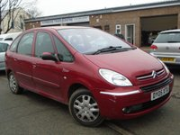 USED 2005 05 CITROEN XSARA PICASSO 1.6 PICASSO DESIRE 2 5d 95 BHP ONLY 2 FORMER KEEPER+NEW MOT
