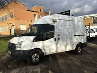 USED 2008 08 FORD TRANSIT 2.4TDCI T350 MWB HIGH ROOF 115BHP. MOBILE WORKSHOP.  NIGHT HEATER. RACKING. BIG SPEC. FINANCE. PX