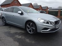 USED 2013 62 VOLVO V60 1.6 D2 R-DESIGN LUX NAV 5d AUTO 113 BHP Only £30 a year road tax, R-Design steering wheel,    R-Design leather upholstery,    Heated front seats,    Bluetooth,    Satellite Navigation,    Electric driver's seat,    Front and rear parking sensors