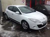 USED 2010 59 RENAULT MEGANE 1.4 DYNAMIQUE TCE 5d 130 BHP Great value Megane, White alloys, excellent,