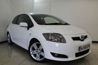 USED 2008 58 TOYOTA AURIS 2.2 SR 180 D-CAT 3DR 177 BHP CLIMATE CONTROL + MULTI FUNCTION WHEEL + RADIO/CD + AIR CONDITIONING + 17 INCH ALLOY WHEELS