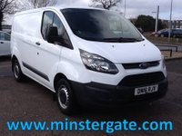2016 FORD TRANSIT CUSTOM 2.2 290 L1H1 P/V 99 BHP * FORD WARRANTY TIL MARCH 2019 * £10775.00