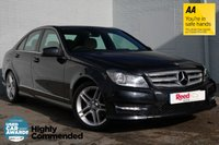 "USED 2012 12 MERCEDES-BENZ C CLASS 2.1 C220 CDI BLUEEFFICIENCY AMG SPORT 4d AUTO 168 BHP LEATHER + 18"" AMG ALLOYS + FSH"