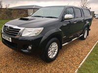 USED 2013 13 TOYOTA HI-LUX 3.0 INVINCIBLE 4X4 D-4D DCB 1d 169 BHP PLUS VAT, REVERSE CAMERA, BLUETOOTH, REAR CANOPY, SIDE STEPS