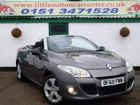 USED 2010 60 RENAULT MEGANE 1.4 DYNAMIQUE TOMTOM TCE 2d 130 BHP CONVERTIBLE, SAT-NAV, KEY-LESS START/ENTRY