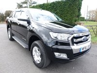 2016 FORD RANGER  LIMITED 4X4 Double Cab Pick Up  2.2 Tdci 160 Ps £16995.00