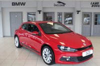 USED 2014 14 VOLKSWAGEN SCIROCCO 2.0 GT TDI BLUEMOTION TECHNOLOGY 2d 140 BHP FULL SERVICE HISTORY + FULL BLACK LEATHER SEATS + SAT NAV + £30 ROAD TAX + 18 INCH ALLOYS + HILL HOLDER + RAIN SENSORS