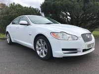 USED 2011 11 JAGUAR XF 3.0 V6 LUXURY 4d AUTO 240 BHP 2 OWNERS IN WHITE WITH FULL JAGUAR SERVICE HISTORY FULL BLACK LEATHER