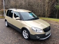 USED 2010 60 SKODA ROOMSTER 1.6 SCOUT TDI CR 5d 103 BHP 6 MONTHS PARTS+ LABOUR WARRANTY+AA COVER