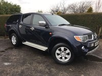 2009 MITSUBISHI L200 2.5 ANIMAL LWB DCB 1d 164 BHP, ONLY ONE OWNER FROM NEW WITH A FULL SERVICE HISTORY, VAT INCLUDED IN PRICE £8995.00