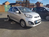 USED 2014 14 KIA PICANTO 1.0 VR7 5d 68 BHP EXCEPTIONALLY ECONOMICAL AND CHEAP TO RUN WITH GOOD SPECIFICATION INCLUDING AIR CONDITIONING,PARKING SENSORS, ALLOY WHEELS, REMOTE LOCKING, AND AUXILLIARY INPUT AND USB!..ONLY 4781 MILES FROM NEW!!